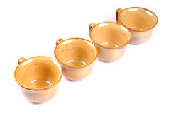 Cups in line Royalty Free Stock Photography