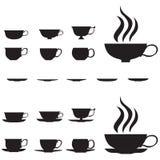 cups liten tea stock illustrationer