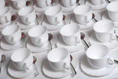 cups många tea Royaltyfri Fotografi