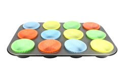 Cups for muffin in a mold Stock Photo