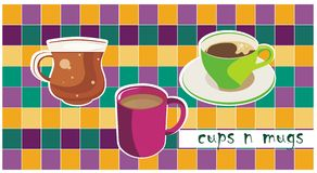 Cups and mugs Stock Images