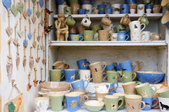 Cups and mugs Royalty Free Stock Photos