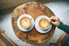 Free Cups Of Aromatic Coffee Cappuccino Royalty Free Stock Photo - 168144505