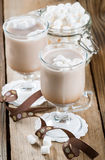 Cups Of Hot Chocolate With Marshmallows Stock Photography