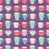 Cups patter Royalty Free Stock Image