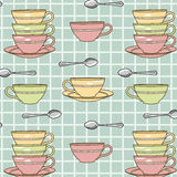 Cups-pattern Stock Photos