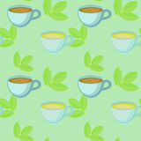 Cups pattern Royalty Free Stock Photography