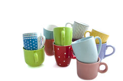 Cups on a pile Royalty Free Stock Image