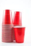 cups plast- Fotografering för Bildbyråer
