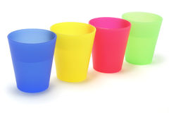 cups plast- Royaltyfria Foton