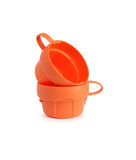 cups plast- två Arkivfoto