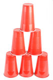 cups plastic red Royaltyfri Bild