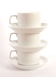 Cups and plates Royalty Free Stock Image