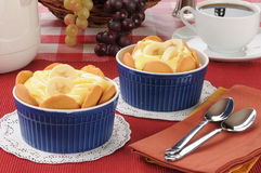 Cups of pudding Stock Images