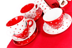 Cups and rags Stock Image