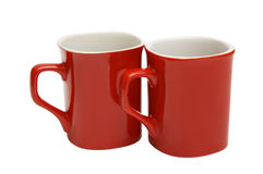 cups red Arkivfoton
