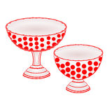 Cups  with red dots vector Royalty Free Stock Photo