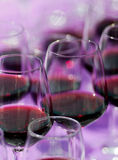 Cups of red  wine Stock Photography