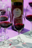 Cups of red  wine Stock Images