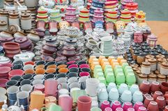Cups on sale Royalty Free Stock Image