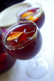 Cups with Sangria Royalty Free Stock Image