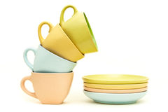 Cups and saucers Royalty Free Stock Photo