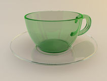 Cups and saucers. High-quality   cup for coffe Royalty Free Stock Photo