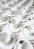 cups saucers Royaltyfri Bild