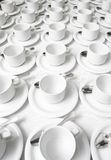 Cups and saucers Stock Photography