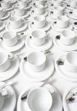 cups saucers Arkivbild