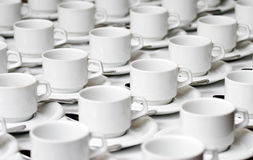Cups and saucers royalty free stock photography