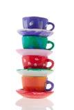cups saucers Royaltyfri Fotografi