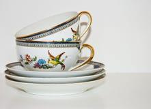 cups saucers Royaltyfria Bilder