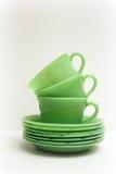 cups saucers royaltyfri foto