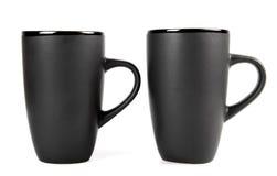 cups saucerstea tre Royaltyfri Foto