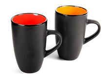 cups saucerstea tre Royaltyfri Bild