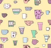 Cups seamless background Royalty Free Stock Photo