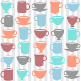 Cups seamless pattern Royalty Free Stock Photos