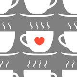 Cups seamless pattern. Vector illustration Stock Photography