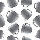 Cups seamless vector background. Template for Stock Photo