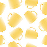 Cups seamless vector background. Template for Royalty Free Stock Image