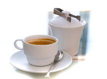 Cups of serve coffee Stock Photo
