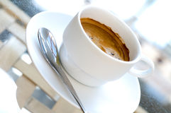 Cups of serve coffee Royalty Free Stock Photography