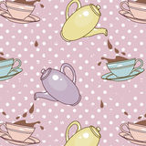 Cups-and-splashes-pattern Royalty Free Stock Photography