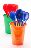 Cups and spoons Stock Image