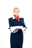 cups stewardessen royaltyfri fotografi