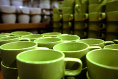 Cups in Stock Royalty Free Stock Photo