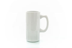 Cups for sublimation of different shapes and colors on a white background Stock Image