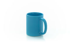 Cups for sublimation of different shapes and colors on a white background Royalty Free Stock Photo