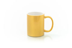 Cups for sublimation of different shapes and colors on a white background Stock Images